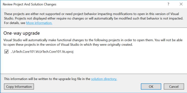 Visual Studio 2017 Upgrade